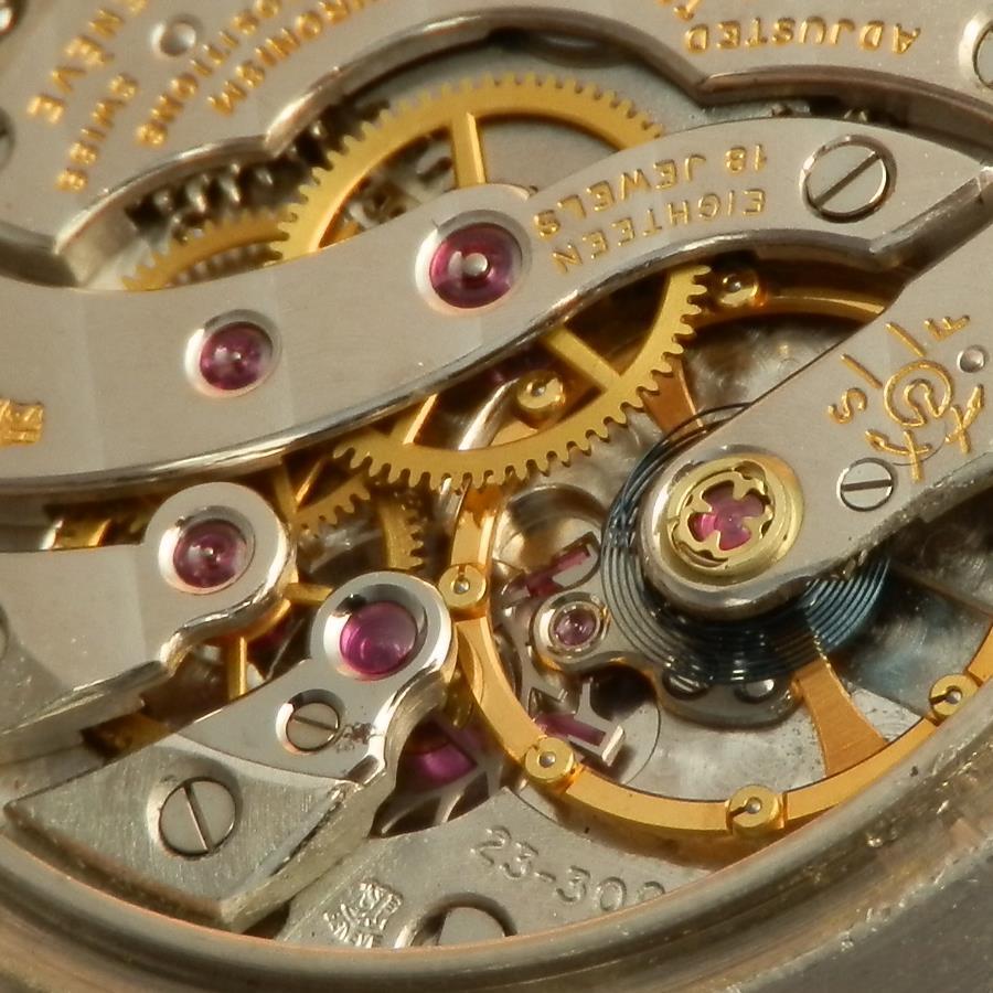 激希少18金無垢ホワイトゴールドw/Tバーラグ★パテック フィリップ ビッグラウンド35mm★Cal.23-300☆1970年頃製造のサムネイル