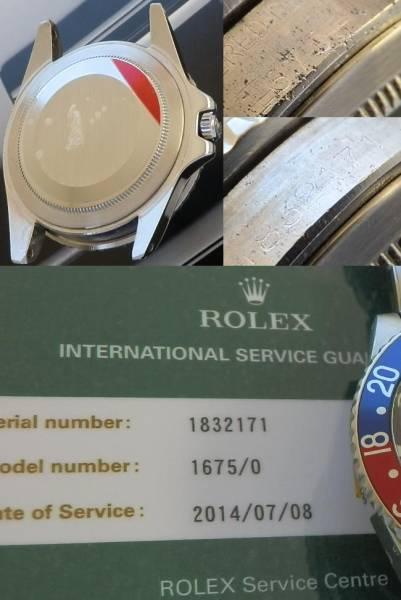 日本ロレックス オーバーホール済2年保★ロレックス GMTマスター Ref.1675/Cal.1570★1967年極上のサムネイル