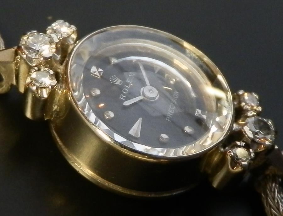 希少14金無垢ホワイトゴールド★ロレックス プレシジョン★6ピース純正ダイヤモンドのサムネイル