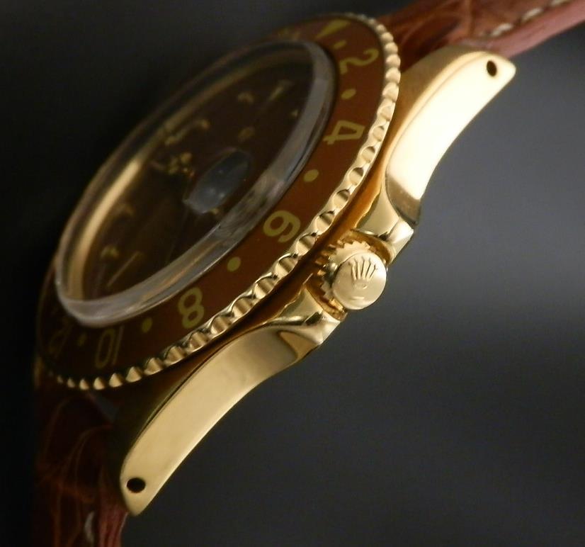 18金無垢シャンパンゴールド★ロレックス GMTマスター Ref.1675/8★Cal.1570 フジツボブラウンのサムネイル