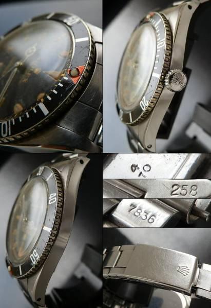 1957年ミラー&レッドトップ★ロレックス サブマリーナ Ref.6536/Cal.1030★7836のサムネイル