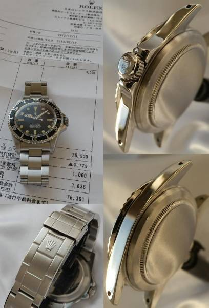 1967年製造 Ref.5512★ロレックス サブマリーナ★日本ロレックス オーバーホール見積済のサムネイル