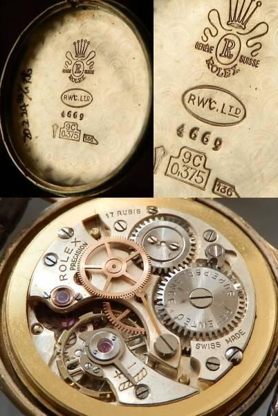 1948年Ref.4669☆9金無垢シャンパンゴールド★ロレックス プレシジョン★Cal.700のサムネイル