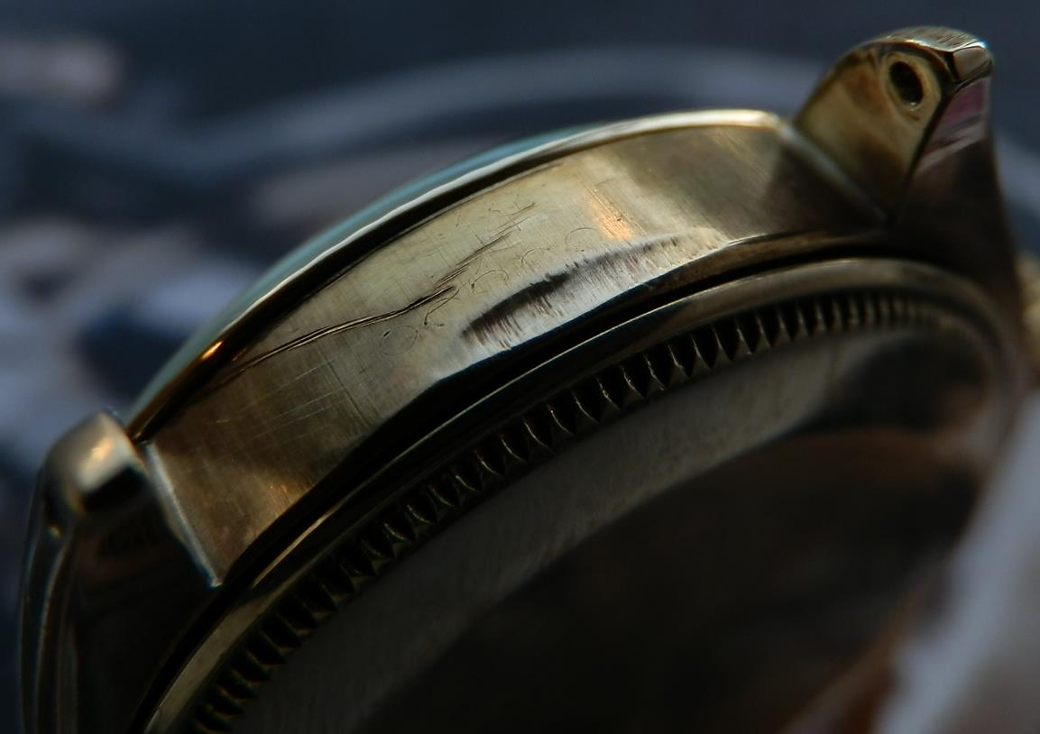 幻ハートインデックス★ロレックス オイスターパーペチュアル コレクション Ref.1005/Cal.1560★オール14金無垢シャンパンゴールドのサムネイル