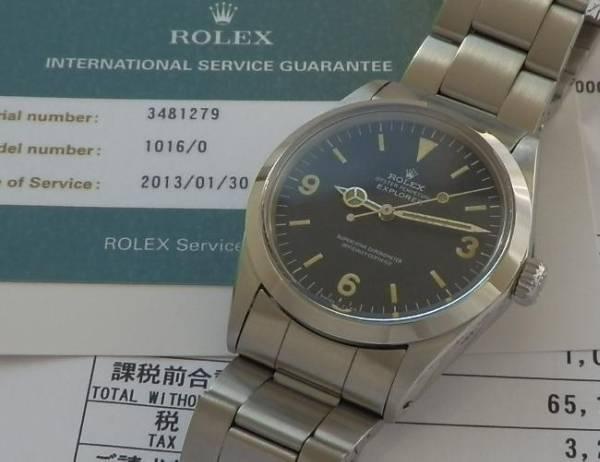 日本ロレックス オーバーホール済23ヶ月保証残★ロレックス エクスプローラー★Ref.1016/Cal.1570のサムネイル