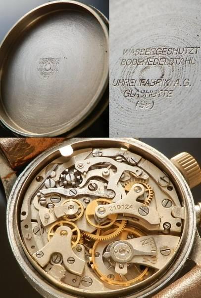 1945年頃ドイツ軍★グラスヒュッテ チュチマ★フリーガークロノグラフ Cal.UROFA 59のサムネイル