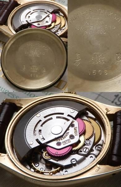 1975年付属品完備★ロレックス オイスターデイト Ref.1500/Cal.1570★14金無垢シャンパンゴールドのサムネイル
