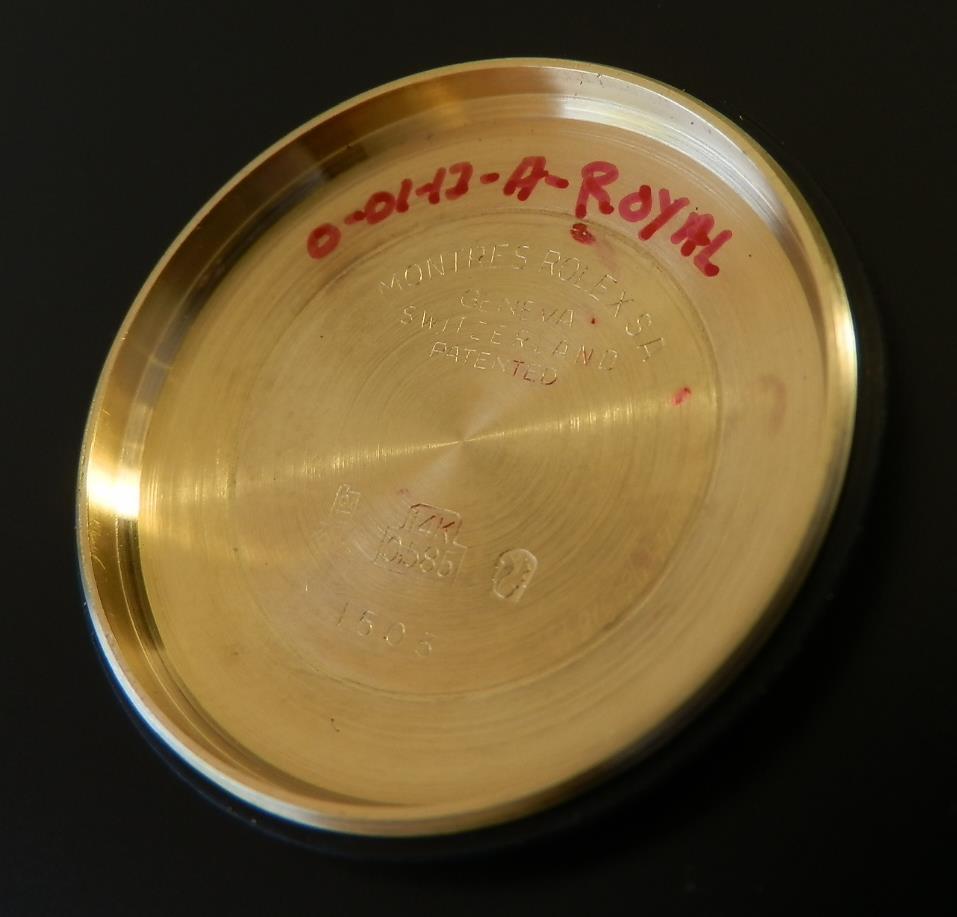 激希少14金無垢シャンパンゴールド★ロレックス オイスターデイト Ref.1503/Cal.1570(★1967年頃のサムネイル
