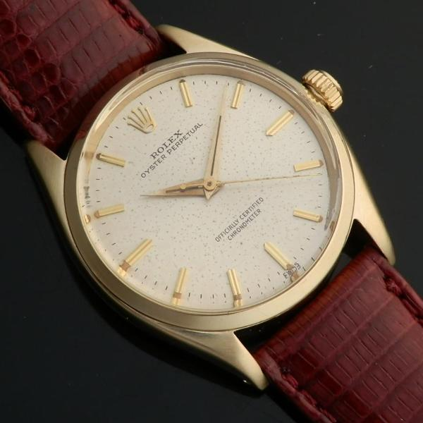 "★★★ R O L E X ★★★  OYSTER PERPETUAL COLLECTION IN 1950's / 14K SOLID GOLD ★オイスターパーペチュアル コレクション ""1950年代"" 14無垢シャンパンゴールド  Ref.6564/Cal.1030のサムネイル"