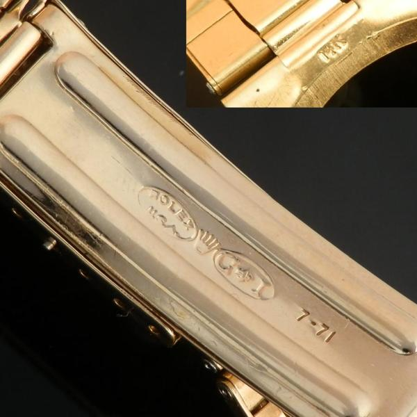 "★★★ R O L E X ★★★  Oyster Perpetual Collection/ 14K Solid Gold w/14K Bracelet★オイスターパーペチュアル コレクション ""1950年代"" 14金無垢シャンパンゴールド&エクステンションブレス  Ref.6567/Cal.1030のサムネイル"