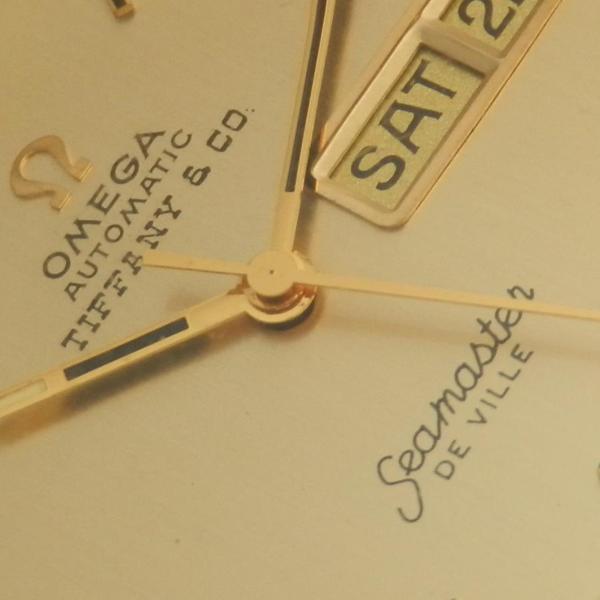 "★★★ TIFFANY By OMEGA ★★★  14K Solid Gold ""CYLINDER ONE PIECE"" Seamaster De Ville  14金無垢シャンパンゴールド シリンダー2ピース防水ケース"" シーマスター デビル  Ref.C6865/Cal.1020 ティファニーWネームのサムネイル"