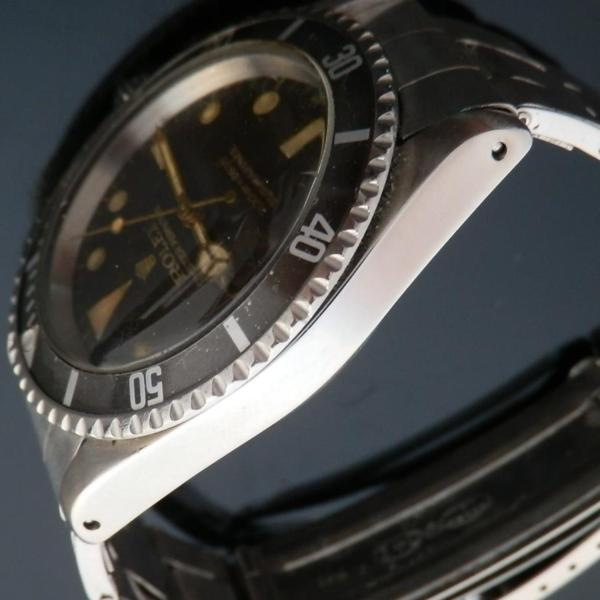 """★★★ R O L E X ★★★  Gilt Letter & Glossy Dial """"TROPICAL BROWN""""In Circa 1966's ★ギルト文字&ミラーダイアル """"トロピカル ライトブラウン"""" 1966年頃製造  SUBMARINER Ref.5513/Cal.1520のサムネイル"""