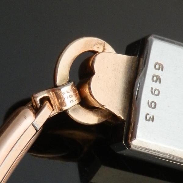 "☆☆☆ R O L E X  ☆☆☆ 10K Solid Rose Gold & Stainless Steel ""HEART LUG"" Requtangular☆10金無垢ローズゴールド&ステンレススティール ""ハートラグ"" レクタンギュラー  Ref.4184/Cal.161 w/Extention braceletのサムネイル"