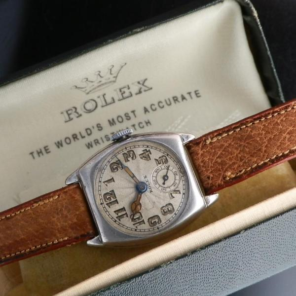 "★★★ R O L E X ★★★  925 Solid Silver ""CUSHION"" Radial Dial Imported Glosgow in 1924's  925銀無垢シルバー ""クッション"" ラジアルダイアル グラスゴー1924年インポート Cal.10 1/2のサムネイル"