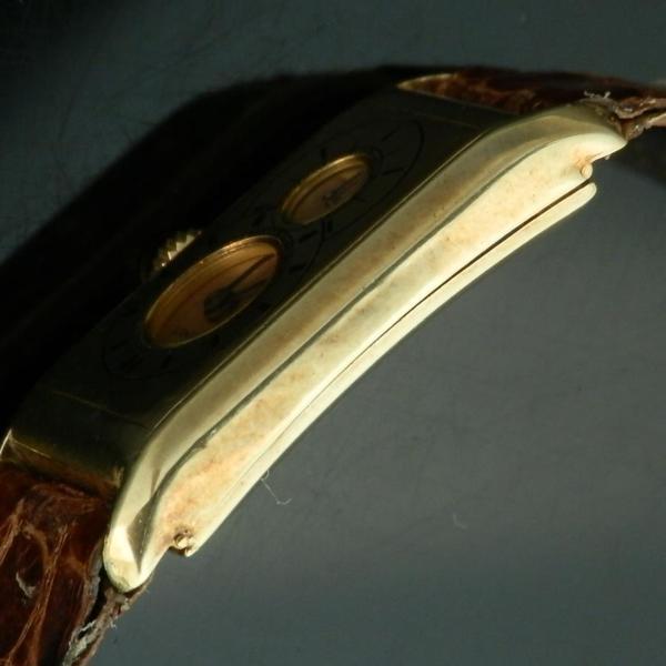 "★★★ LONGINES ★★★  14K Solid Gold ""SUPER SOLO TANK DOCTORS DUO DIAL "" In 1933's  14金無垢シャンパンゴールド ""スーパーソロタンクドクターデュオダイアル"" 1933年製造  Cal.9.32のサムネイル"