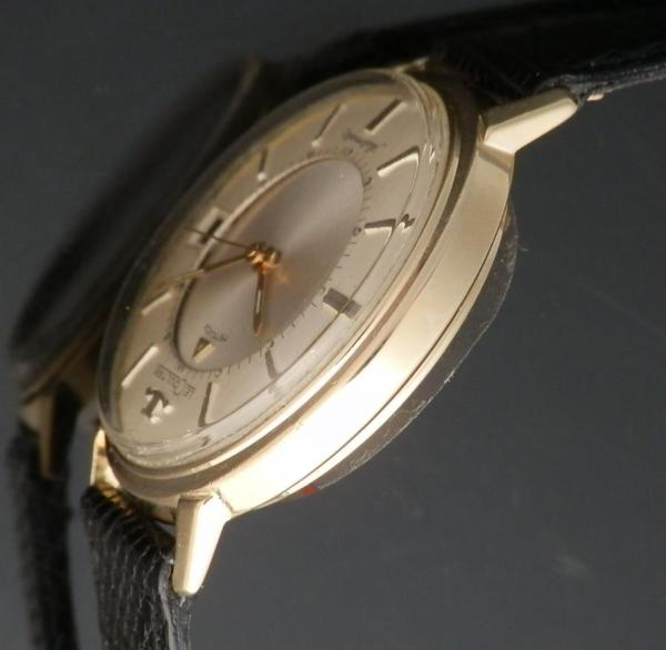 "★★★ JAEGER-LECOULTRE ★★★  14K SOLID GOLD ""MEMOVOX"" THE FIRST AUTOMATIC ALARM DATE★14金無垢シャンパンゴールド ""メモボックス"" 自動巻アラームデイトファーストモデル Ref.267-825/Cal.825のサムネイル"