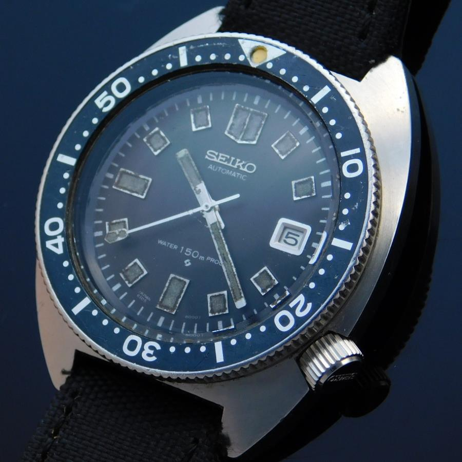 "★★★ SEIKO ★★★  Second Diver Intial ""WATER 150M PROOF"" 6105-8000 In 1969's☆セカンドダイバーモデル ""150M防水"" 6105-8000 1969年製造  R e f . 6 1 M C 0 1 0のサムネイル"