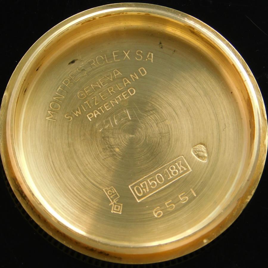 "★★★ R O L E X ★★★  Glossy Tropical Dial ""OYSTER PERPETUAL BOYS"" All 18k Solid Gold☆ブラックグロス(ミラー)トロピカルダイアル ""オイスターパーペチュアル"" ボーイズ 18金無垢  Ref.6551/Cal.1130のサムネイル"