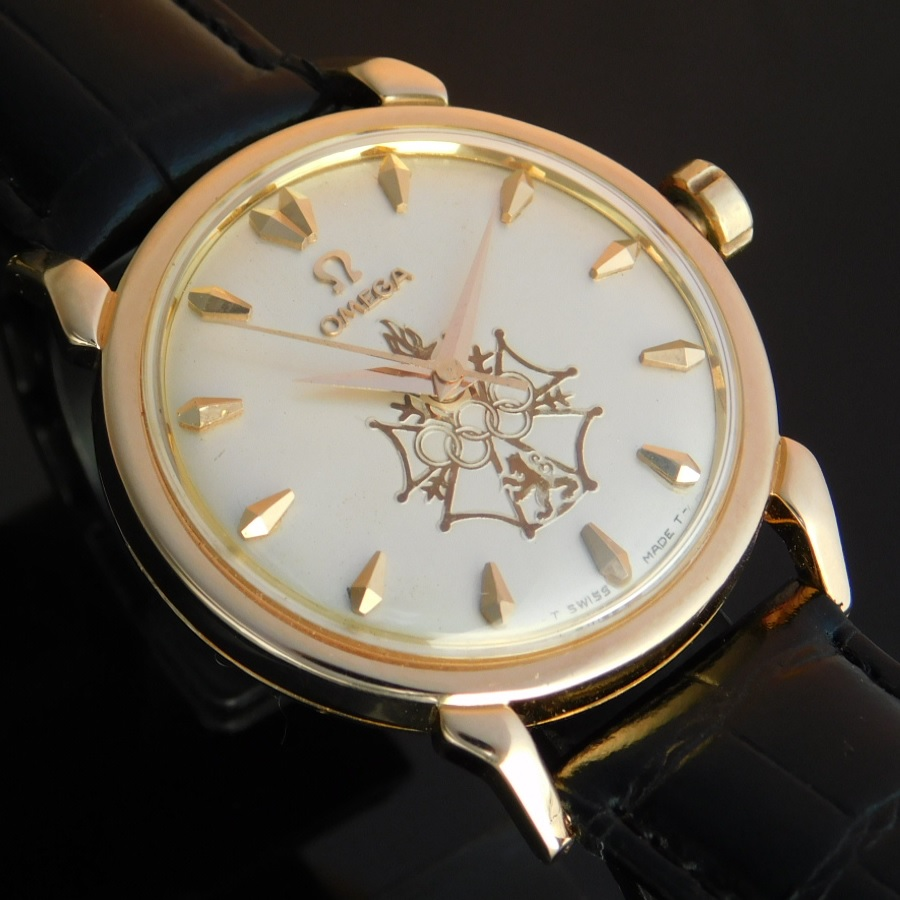 "★★★ OMEGA ★★★  Produced 100 pieces ""PRE-COMMERCIAL (PROTOTYPES)"" 18k Rose Gold☆1956年 約100個限定製造 ""プリコマーシャル プロトタイプ"" 18金無垢ローズゴールド  Seamaster XVI Ref.2850SC/Cal.471 ..十字功労賞紋章のサムネイル"