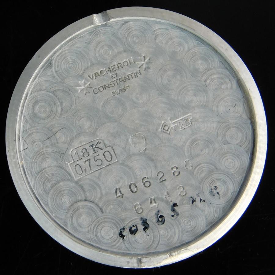 ★★★ VACHERON & CONSTANTIN ★★★  18K SOLID WHITE GOLD 100% FACTORY ORIGNAL 45P DAIMONDS★スーパーラウンド18金無垢ホワイトゴールド – W/純正45ピースダイヤモンドベゼル(トータル4.5ct/VF以上) Ref.6418/Cal.1003のサムネイル