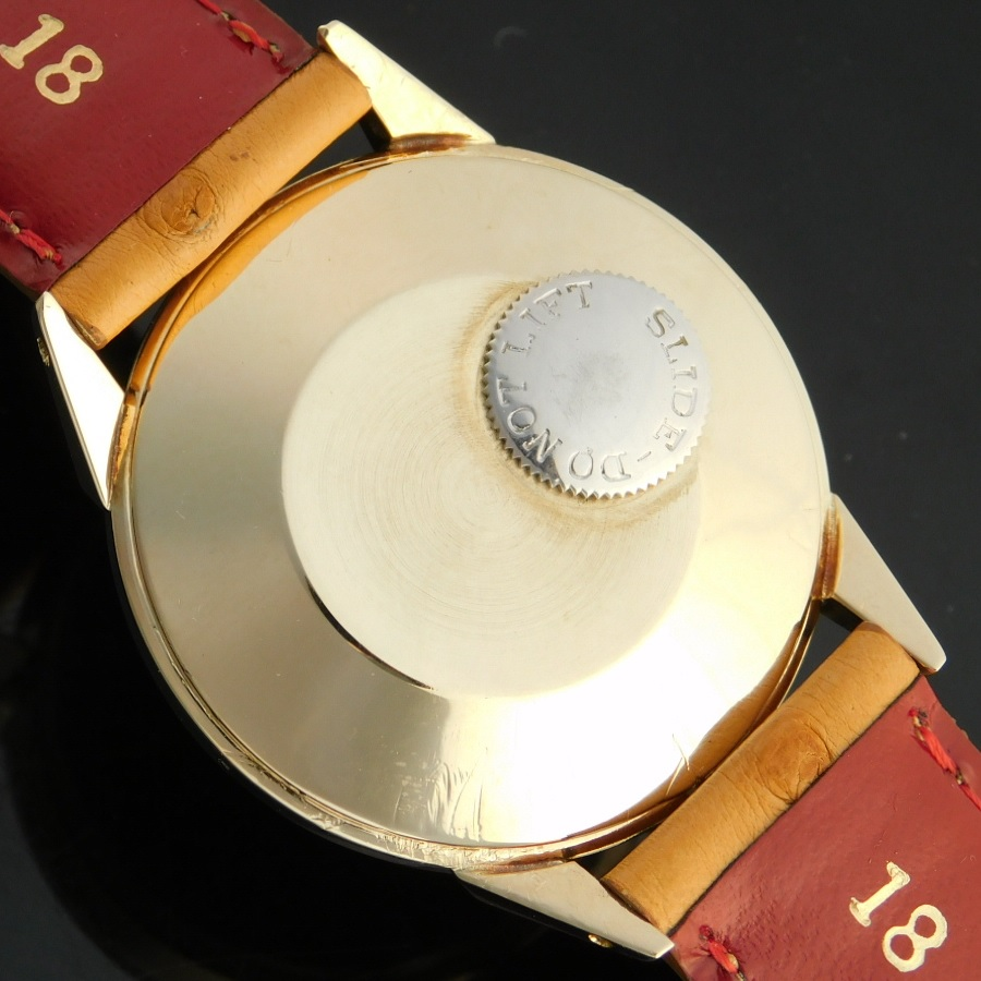 "★★★ JAEGER-LECOULTRE ★★★  14K Solid Gold ""FINAL AUTOMATIC"" Power Reserve & Second Double Window★幻ワズワース社製14金無垢☆究極の自動巻ファイナル★ルクルト フューチャーマティック★伝説キャリバー817☆パワーリザーブ&秒針のサムネイル"
