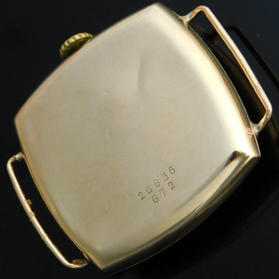 "★★★ R O L E X ★★★  9K Solid Champgne Gold ""OLD CUSHION""1925★9金無垢シャンパンゴールド ""オールド クッション"" 1925年製造  Ref.672/Cal.10 1/2のサムネイル"