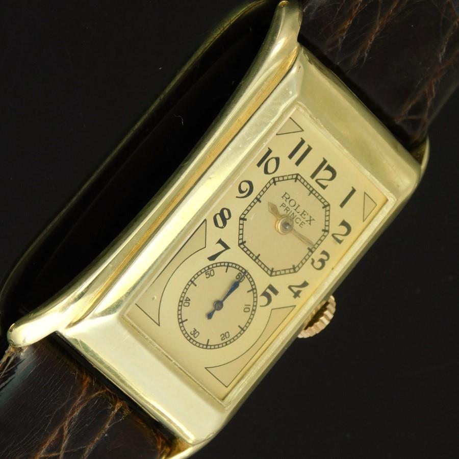 "★★★ ROLEX ★★★  14K Solid Gold ""BRANCARD PRINCE"" Doctor Watch Requtangular★14金無垢 ""プリンス ブランカード"" ドクターウオッチ  Ref.1490/Cal.300のサムネイル"