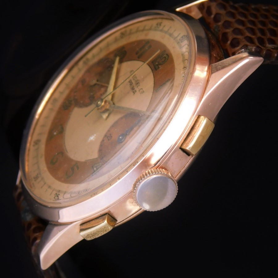 "★★★ ERNEST BOREL Co ★★★  ""18K Solid Rose Gold -PRIMA- Tropical Chronograph Dial★18金無垢ローズゴールド ""プリマ"" トロピカルクロノグラフダイアル  Ref.8373/Cal.23のサムネイル"