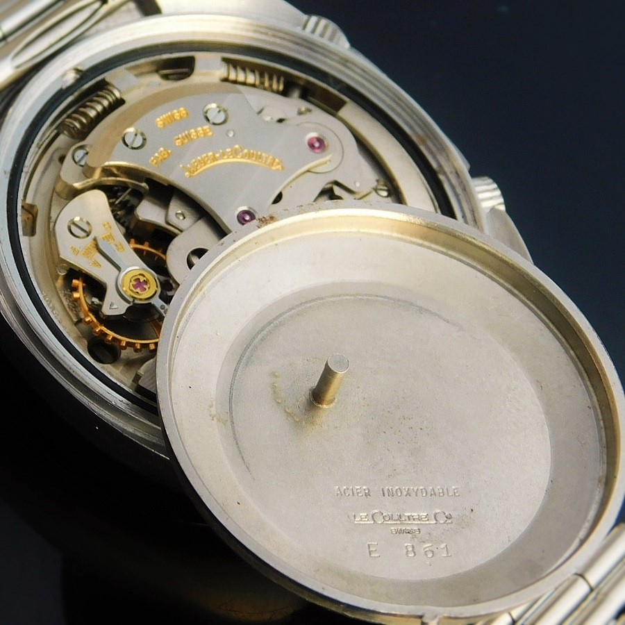 "★★★ JAGER-LECOULTRE ★★★  ""The First Automatic Date ""GT GRAN TURISMO"" Orignal Bracelet★世界初自動巻アラームデイト ""グランツーリスモ"" W/オリジナルキャタピラブレスレット  MEMOVOX Ref.E861/Cal.825のサムネイル"