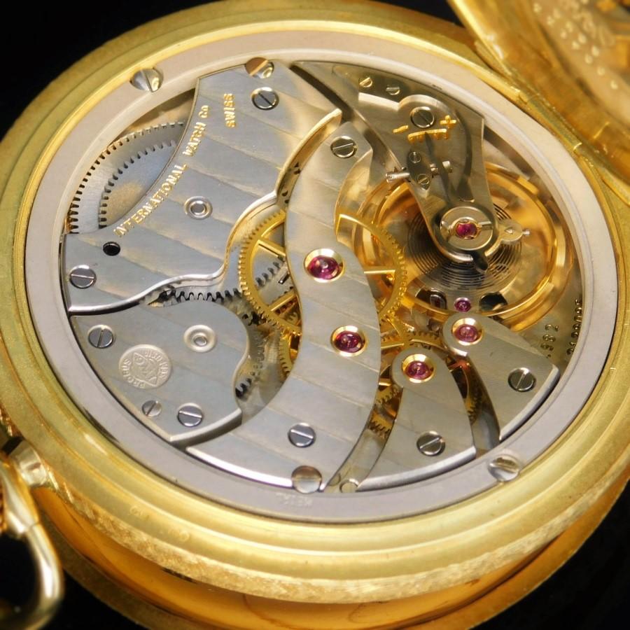 "★★★ I W C ★★★ International Watch Co 18K Solid Gold Hunter 48mm Over ""POCKET WATCH"" Enamel Dial★18金無垢ハンターケース 48mmオーバー ""ポケットウオッチ懐中"" エナメルダイアル w/ルイ16世針 Ref.5405/Cal.982のサムネイル"