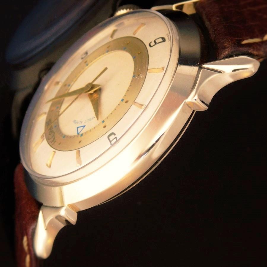 """★★★ LECOULTRE ★★★  14k Solid gold w/Exotic Lug """"SECOND ALARM"""" Star Watch Case Comapny☆14金無垢 w/エキゾチックラグ """"アラームセカンドモデル"""" スターウオッチカンパニー WRIST ALARM Cal.814のサムネイル"""