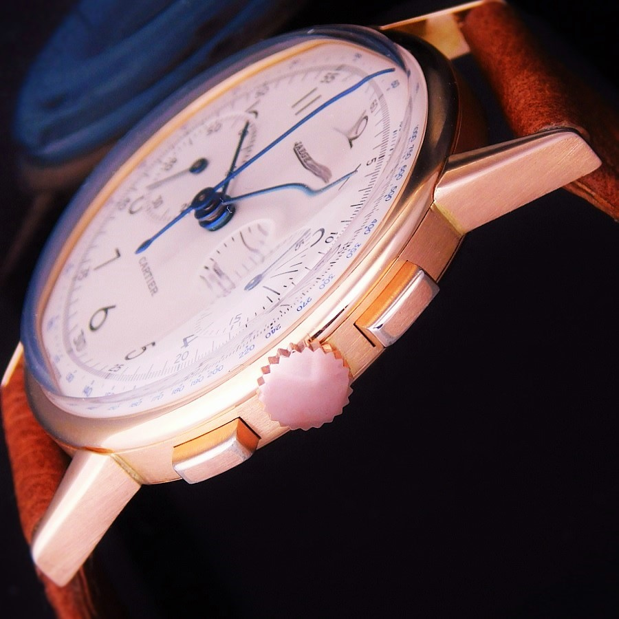 "★★★ CARTIER By JAEGER ★★★  Legendary W Name ""2 REGISTER CHRONOGRAPH"" 18K SOLID PINK GOLD☆伝説Wネーム ""2レジスタークロノグラフ"" 18金無垢ローズゴールド Ref.12313/Cal.285のサムネイル"