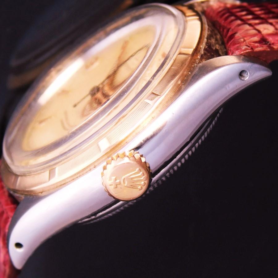 """★★★ ROLEX ★★★  14K Solid Pink Gold & SS """"SEMI-BUBBLEBACK"""" – Rolex Applied Logo☆14金無垢ピンクゴールド&スティールコンビ """"セミバブルバック"""" ピンクゴールド""""ROLEX アプライドロゴ""""  Ref.6121/Cal.645のサムネイル"""