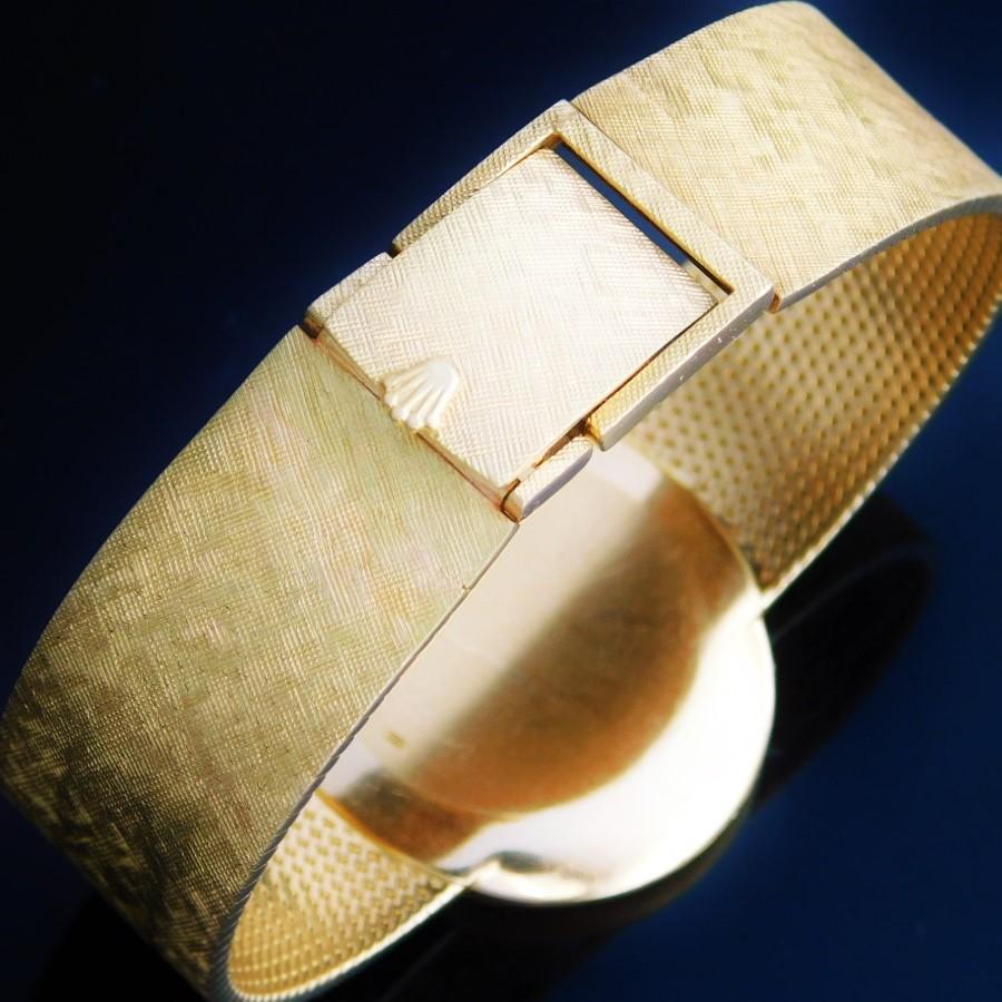 """★★★ ROLEX ★★★  All 18K Solid Gold – """"C E L L I N I"""" – Mesh Continued Bracelet☆オール18金無垢シャンパンゴールド """"チェリーニ"""" メッシュコンティニュードブレス  Ref.3805/Cal.1600のサムネイル"""