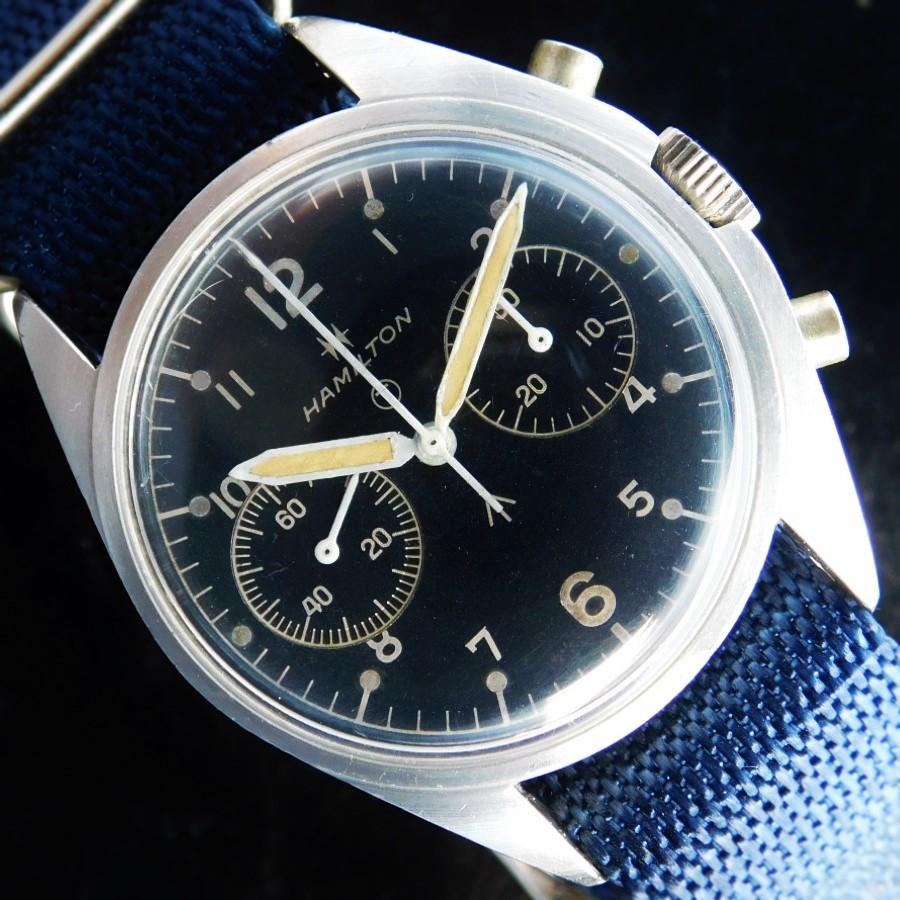 "★★★ HAMILTON ★★★  Manufactured in 1972 ""ROYAL AIR FORCE"" Broad Allow☆1972年製造 ""イギリス軍空軍アーミー公式官給腕時計モデル"" ブロード アロー  6BB/924-3306 Cal.7733のサムネイル"