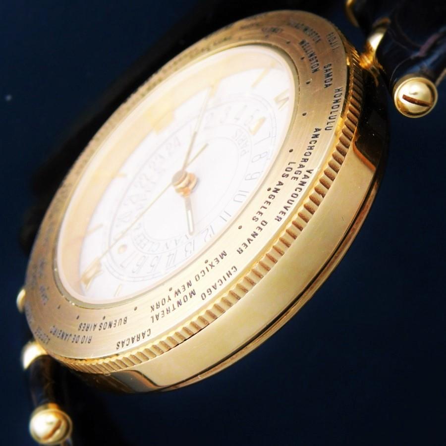 "★★★ Van Cleef & Arpels ★★★ The World Time Alarm ""TRAVELER"" In 18K Solid Gold☆ワールドタイム アラーム ""ヴァン クリーフ&アーペル"" 18金無垢 Cal.911のサムネイル"