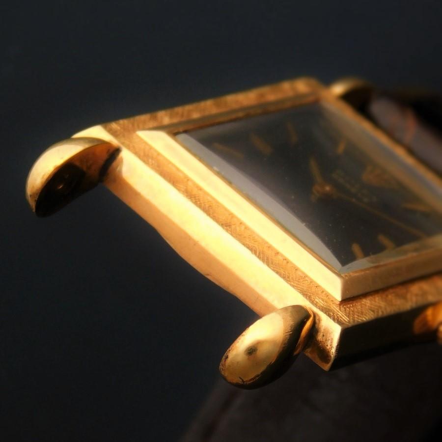 """★★★ ROLEX ★★★ 18K Solid Gold Drop Lug """"THE SQUARE"""" Pinhole Screw Back Case☆18金無垢ゴールド w/ドロップラグ """"ザ スクエアー彫金"""" ピンホール式ネジ込みバックケース Ref.9878/Cal.650のサムネイル"""