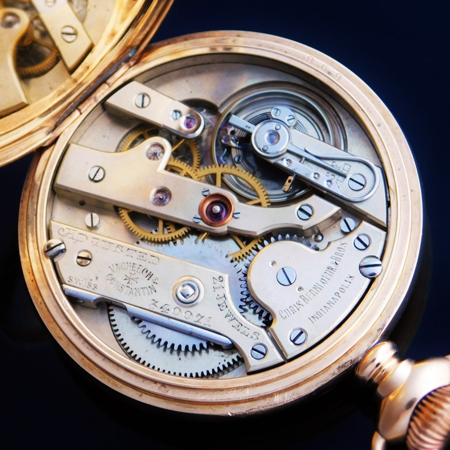 ★★★ VACHERON & CONSTANTIN ★★★  CHRIS BERNLOEHR & BROS/クリスベルンローア&ブラザーズ  18K Solid Gold Open Case W/ Four-color artistic engraving☆18金無垢オープンケース W/ 4色芸術的彫金装飾  Cal.16.75のサムネイル