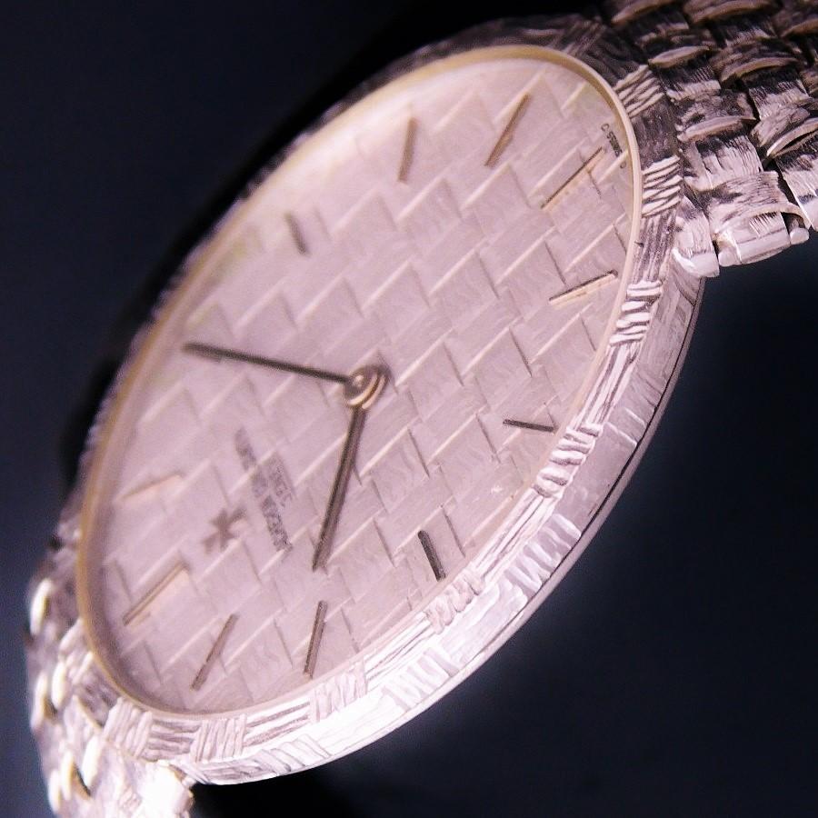 "★★★ VACHERON & CONSTANTIN ★★★ 18K Solid White Gold ""ALL PATTERN FINISH"" Bracelet watch☆18金無垢ホワイトゴールド ""オール4つ編み装飾"" ブレスウオッチ""  Ref.33002 Cal.1003/1のサムネイル"