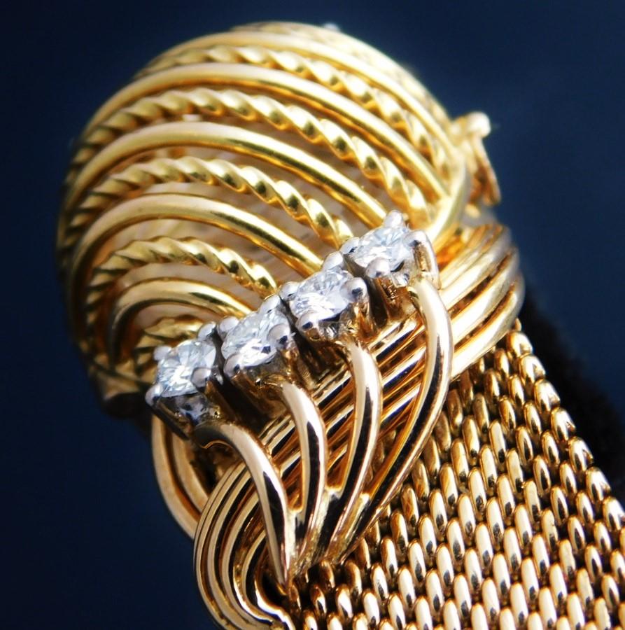 ✩✩✩ O M E G A ✩✩✩ All Factory Original 18k Solid GoldーTotal 4 Karat Diamonds★オール純正18金無垢シャンパンゴールド 0.5ct×8ダイヤ-トータル4カラット  FLIPTOP BRACELET WATCH / フリップトップブレスレットウオッチ Cal.440のサムネイル