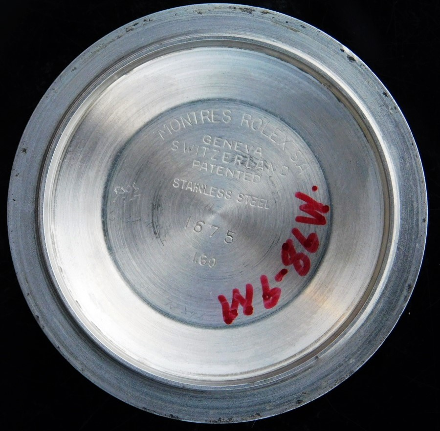 "★★★ R O L E X ★★★ PCG""Pointed Crown Guard"" & ""OCC""Officially Certified Chronometer – Glossy Glit Dial✩ひらめポインテッドトップガード & 3列クロノメーター表示 – ミラー&ギルトダイアル  G M T – マスター "" Ref.1675″ Cal.1560のサムネイル"
