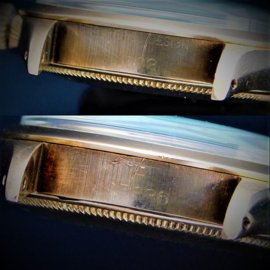 "★★★ R O L E X ★★★ Oyster Perpetual Collection ""SMOOTH BEZEL"" 14k Solid Fold✩オイスターパーペチュアルコレクション ""スムースベゼル"" 14金無垢シャンパンゴールド  Ref.1002/Cal.1560のサムネイル"