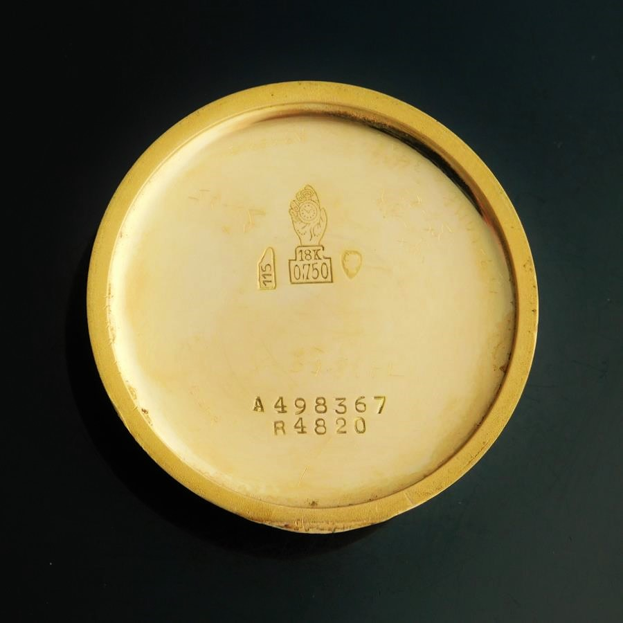 "★★★ MOVADO ★★★ Triple Calendar ""CALENDERGRAPH"" 14K Solid Gold Case – Circle 1940✩伝説トリプルカレンダー ""カレンドグラフ"" 14金無垢シャンパンゴールド 1940年代ビンテージ Ref.4820/Cal.470のサムネイル"