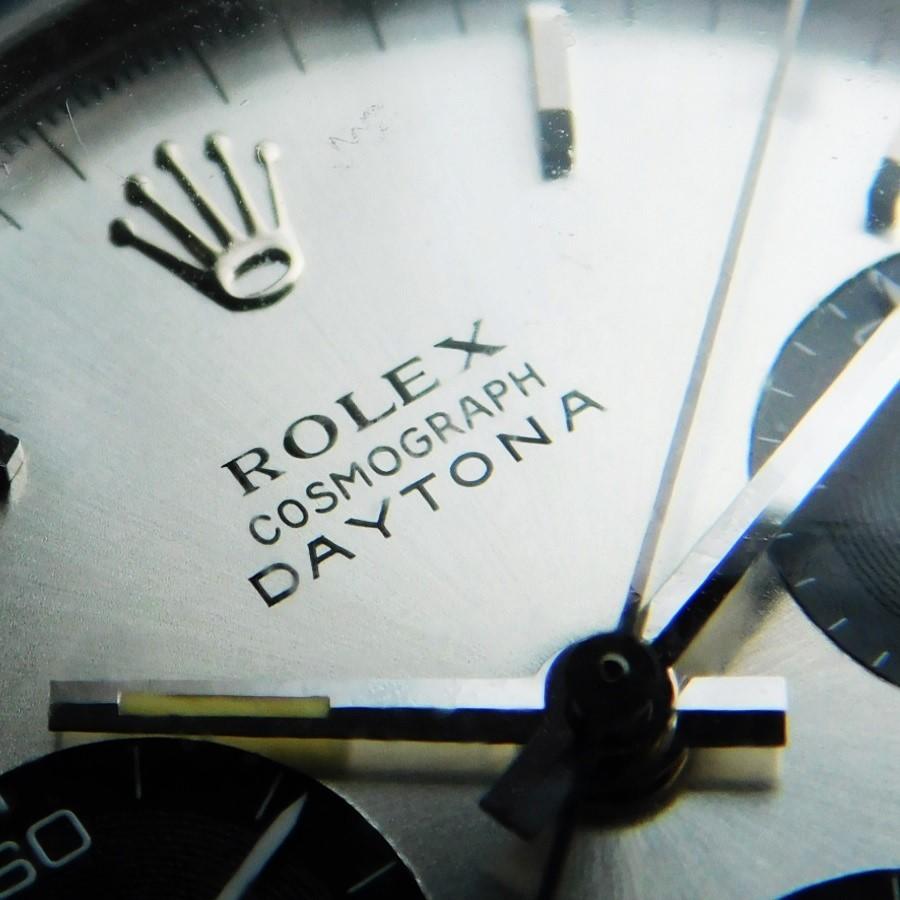 """★★★ R O L E X ★★★ Non screw Pusher Chronograph """"COSMOGRAPH DAYTONA – Black Plexiglass☆ノンスクリュー(ネジ込み)プッシャークロノグラフ """"コスモグラフ デイトナ"""" ブラックプラスチック ベゼルインサート Ref.6241/Cal.727のサムネイル"""