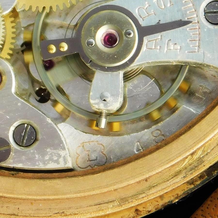 """★★★ CHRONOGRPAH SUISSE By BRITIX ★★★ 18K Solid Gold """"ANTIMAGNETIC"""" 37mm Over Big Round  18金無垢シャンパンゴールド """"アンティマグネティック/耐磁"""" 37mmオーバービッグラウンドケース CHRONOGRAPHE SUISSE Landeron caliber.48のサムネイル"""