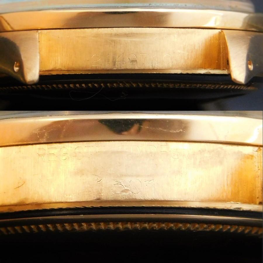 "★★★ R O L E X ★★★ Oyster Perpetual Date ""REEDED BEZEL"" 18K Solid Gold W/Gray Dial☆激希少1967年美品18金無垢シャンパンゴールドエンジンベゼル★ロレックス オイスターパーペチュアルデイト Ref.1501★希少グレイダイアルのサムネイル"