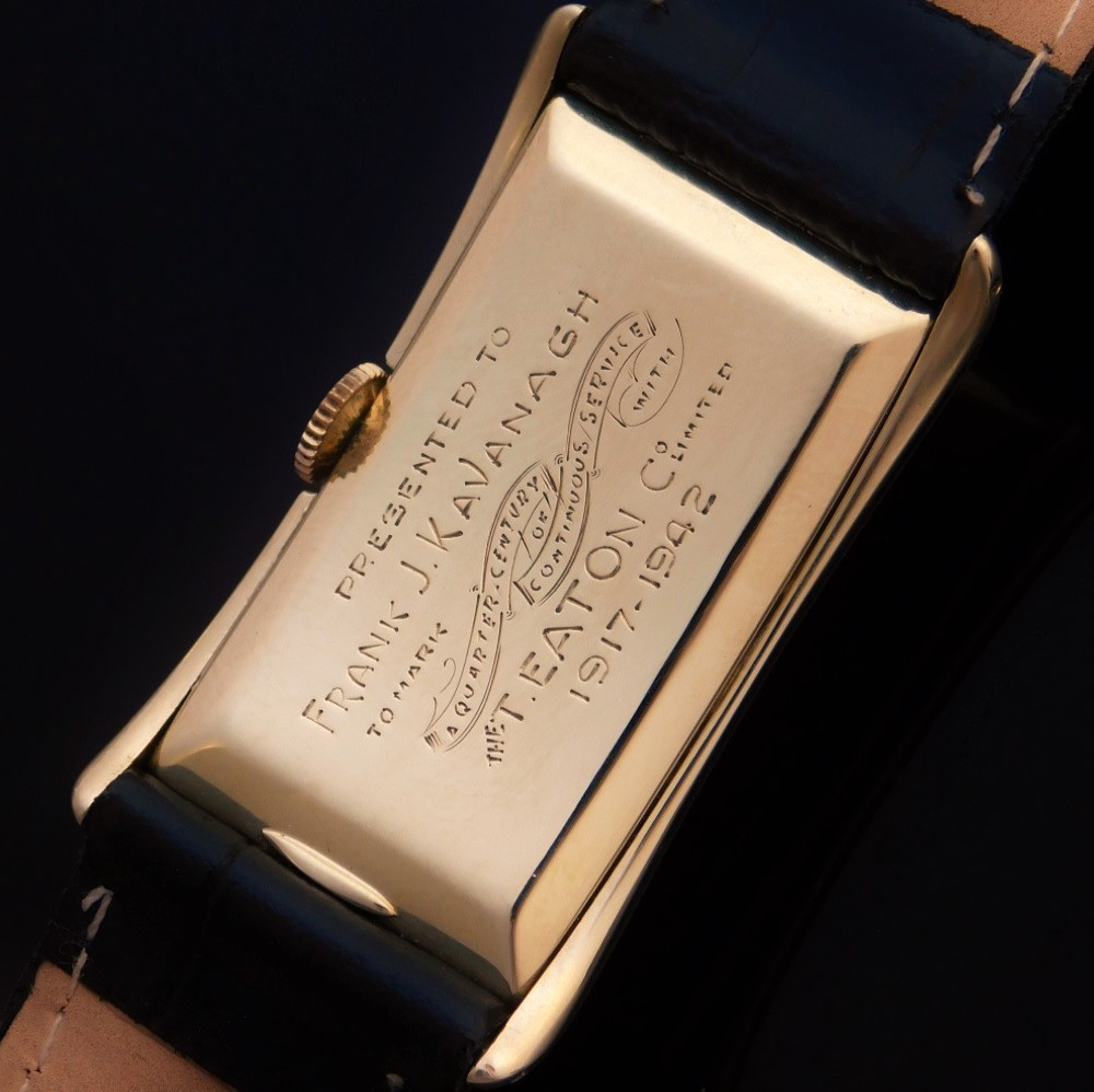 "★★★ EATON By ROLEX ★★★ 14K Solid Gold ""QUARTER CENTURY CLUB"" Doctor Watch Rectangular☆14金無垢 ""クオーターセンチュリークラブ"" ドクターウオッチ レクタンギュラー ROLEX PRINCE Ref.1490/Cal.300のサムネイル"