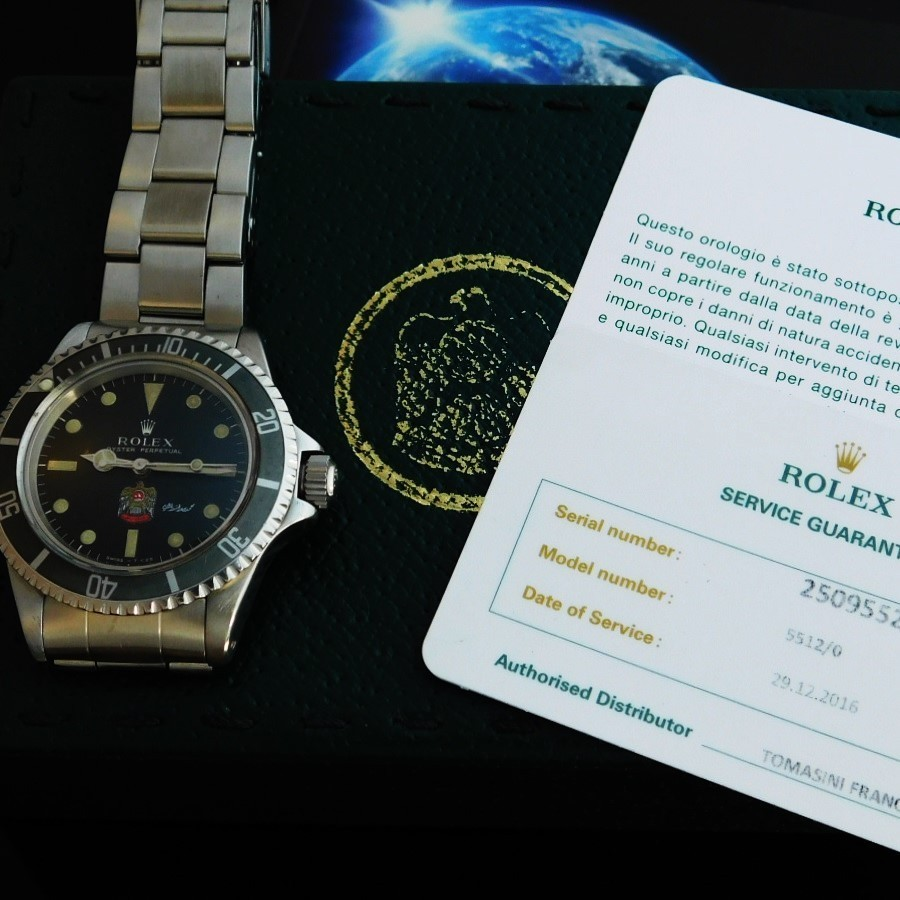 "★★★ R O L E X ★★★ With Rolex Official Guarantee Card "" UAE MILITARY"" White Letter 1970's  ロレックスオフィシャル保証カード ""公式アラブ首長国連邦ミリタリーモデル""ホワイトレター 1970年  サブマリーナ Ref.5512/Cal.1560のサムネイル"