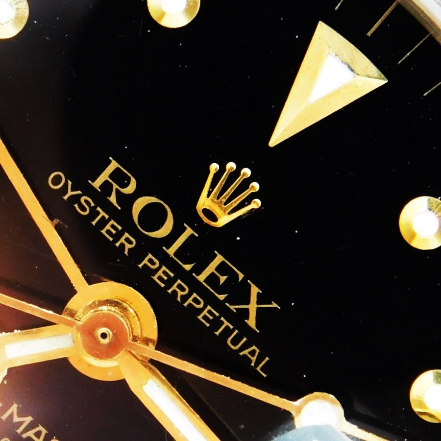 "★★★ R O L E X ★★★ 14CT GOLD & STAINLESS STEEL ""GMT-MASTER"" FINAL GLOSS BLACK W/NIPPLE INDEX☆激激希少1979年2'ndファイナル☆ブラックグロスダイアル★ロレックス GMTマスターRef.1675/3★Ref.6251Hブレス・FF.55☆Cal.1570ハックのサムネイル"