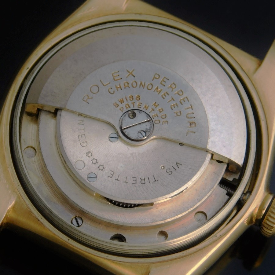 "★★★ ROLEX ★★★ All 18K Solid Gold ""Tropical Dial"" W/Extension Rivet Bracelet In 1953☆18金無垢ゴールドニーディッドベゼル ""ロピカルダイアル"" W/1953年製エクステンションリベットブレス BUBBLEBACK-Ref.3372/Cal.630NAのサムネイル"